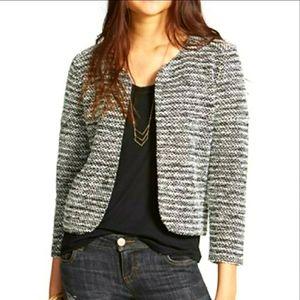 Anthropologie Elodie Open Front Tweed Jacket